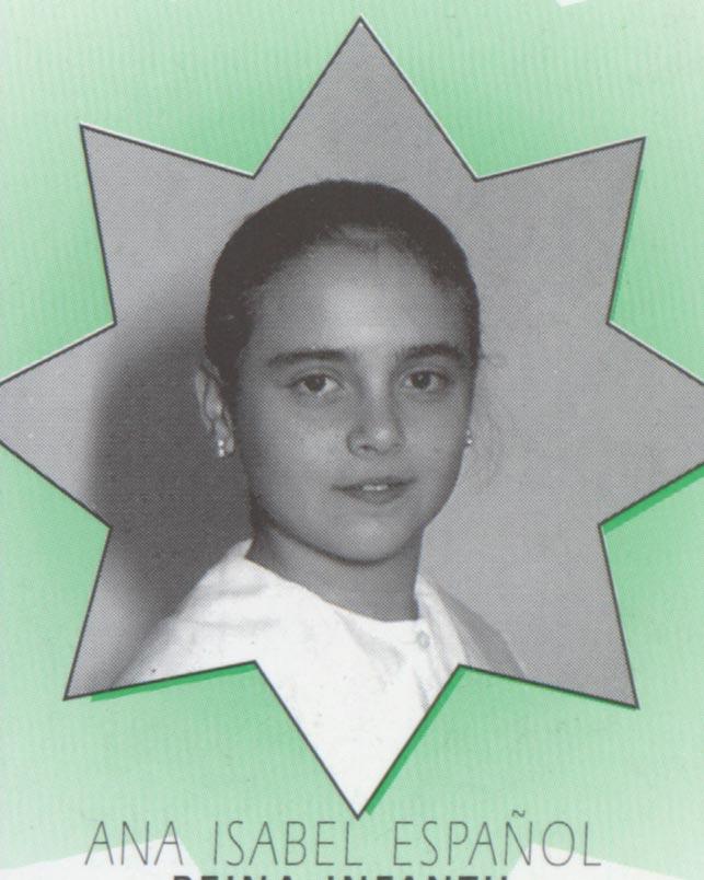 REINA MAYOR FECACV 1991 1992.-María Dolores Porcel. Procedente del Centro Andaluz de Alfafar